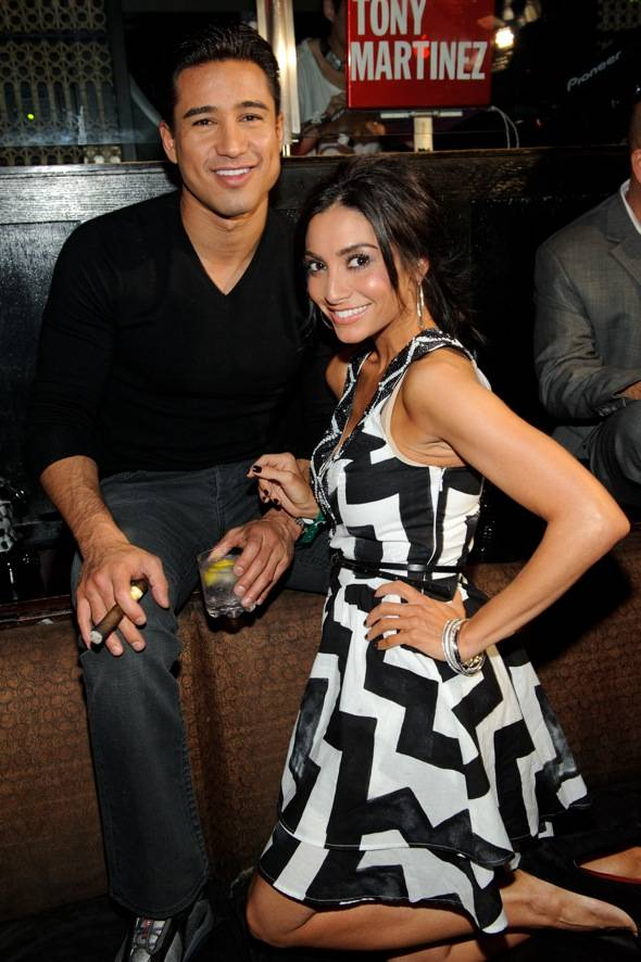 Mario Lopez and Courtney Mazza inside LAVO LV 2