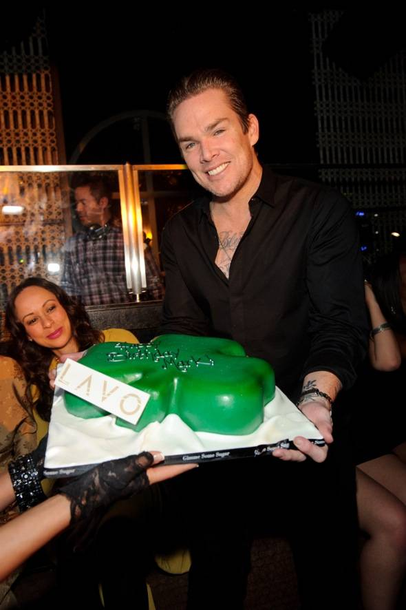 Mark McGrath cake at LAVO LV