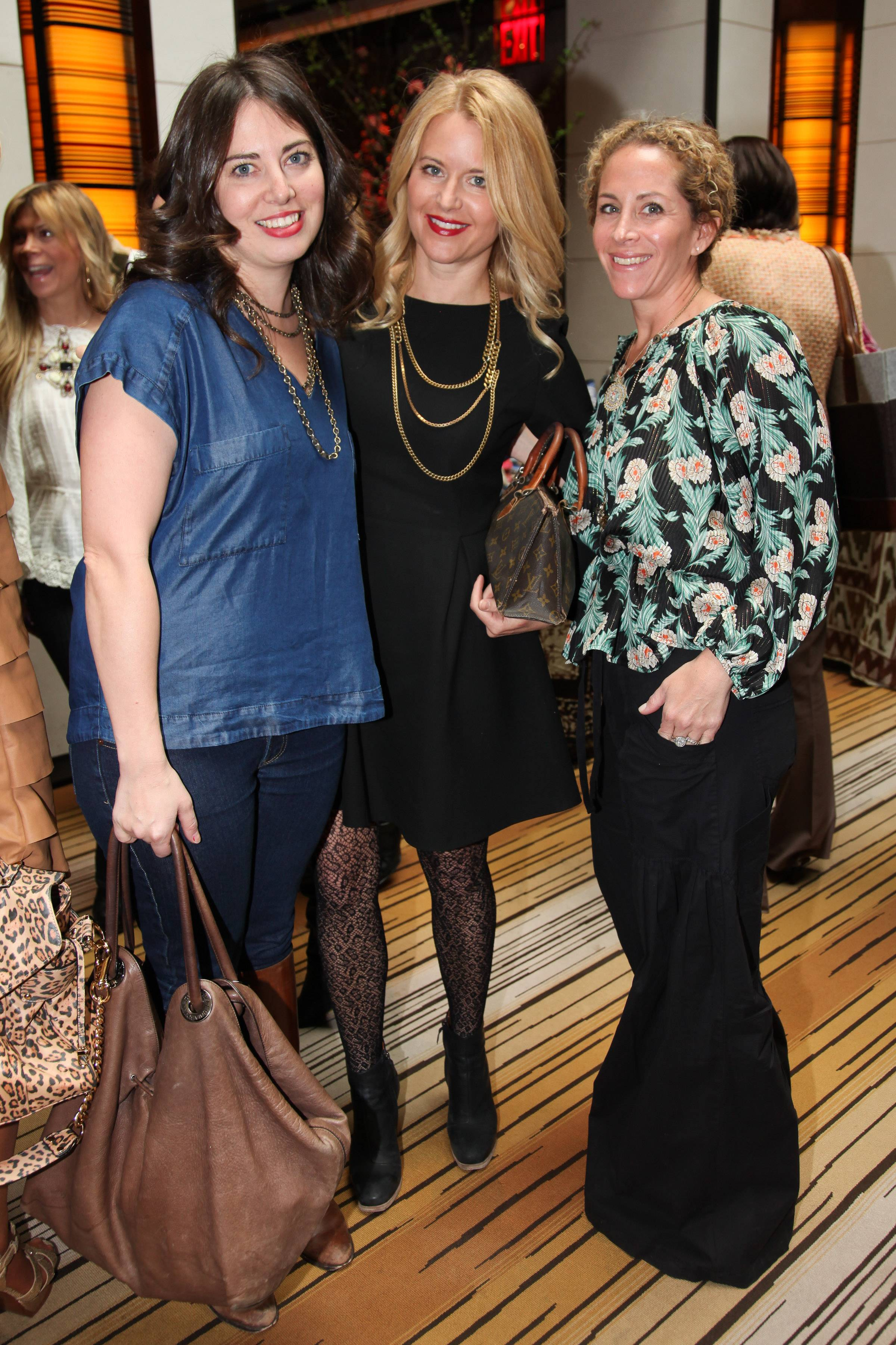 Molly Peterson, Christiane Lemieux, Erin Berger Theodora & Callum event benefitting Baby Buggy