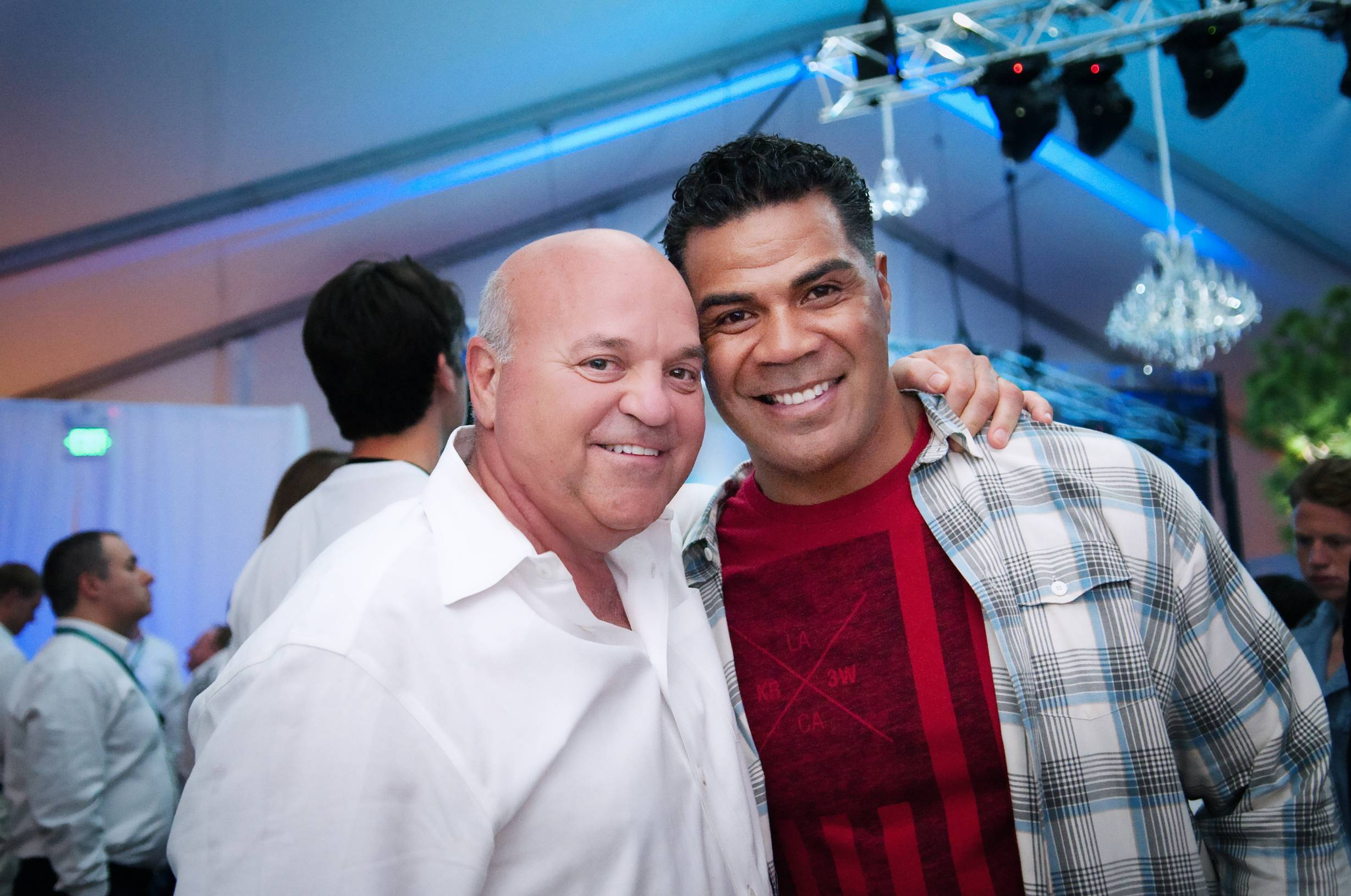 Ted Roth with Junior Seau