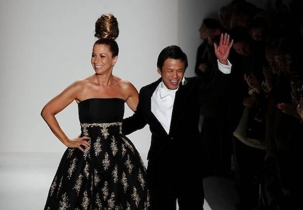 Zang Toi with Jill Zarin at Mercedes-Benz Fashion Week