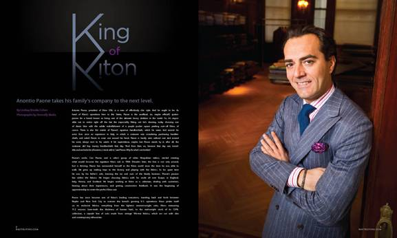 King of Kiton: Antonio Paone's Effortless Style