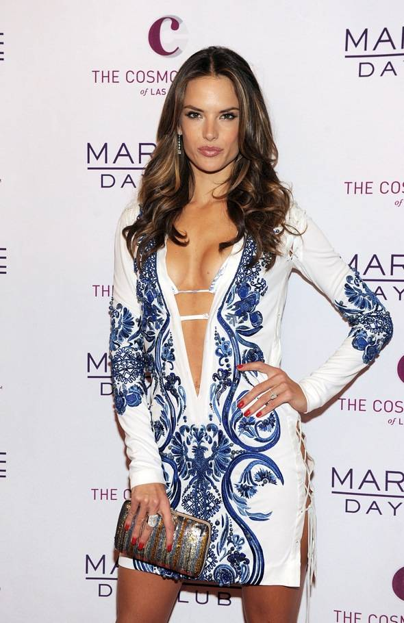 Alessandra Ambrosio arrives at Marquee Nightclub and Dayclub Grand Opening on April 9, 2011 in Las Vegas, Nevada.