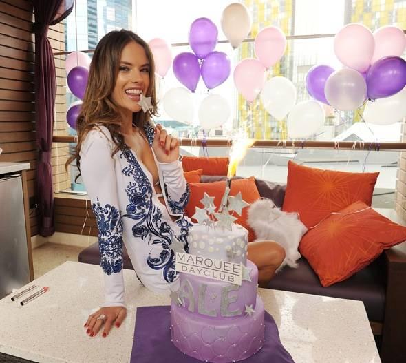 Alessandra Ambrosio celebrates her birthday at Marquee Nightclub and Dayclub on April 9, 2011 in Las Vegas, Nevada.