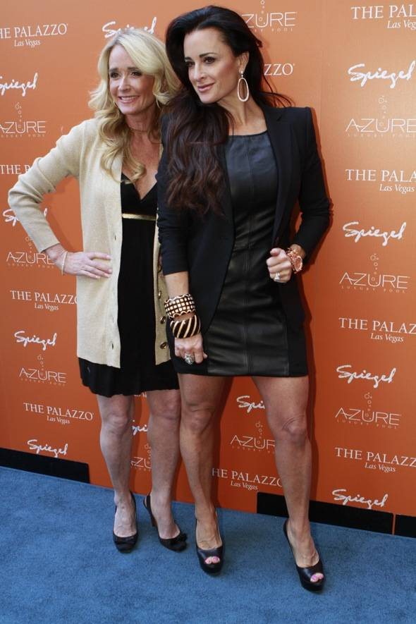 Blue Carpet with Kim and Kyle Richards Season Opening of Azure Luxury Pool at The Palazzo
