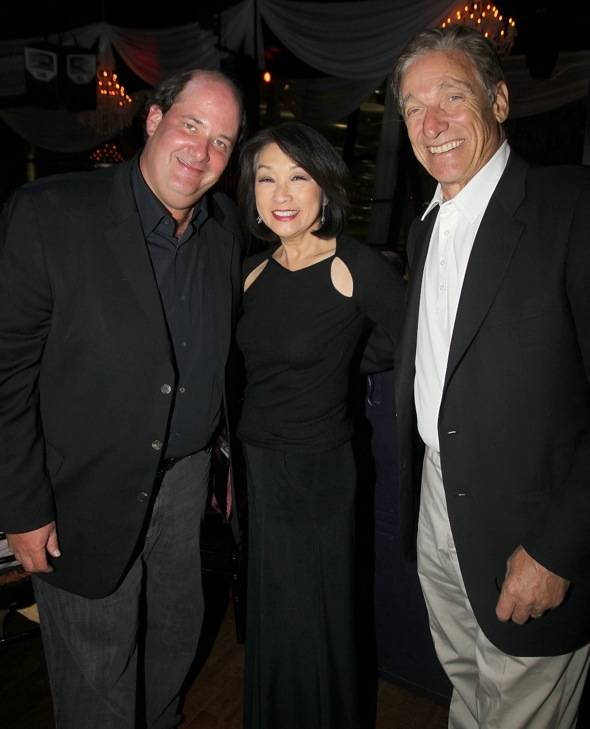 Brian Baumgartner, Connie Chung and Maury Povich at BESO for MJCI, Las Vegas