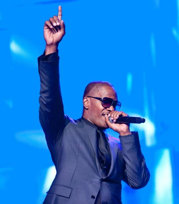 Jamie Foxx Performs at MJCI Celebration, Las Vegas, Credit Tom Donoghue