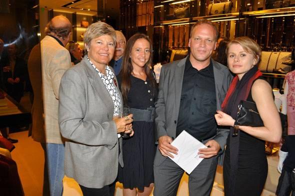 Jeri Wolfson, veronica zalcberg, Eric Goldemberg & Claire Bruekel(lr)