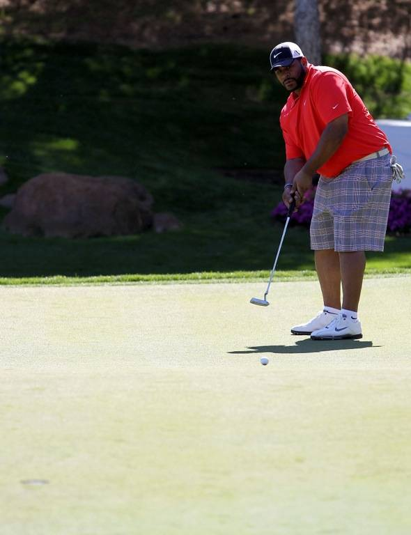 Jerome Bettis Golfs at Shadow Creek for MJCI, Las Vegas