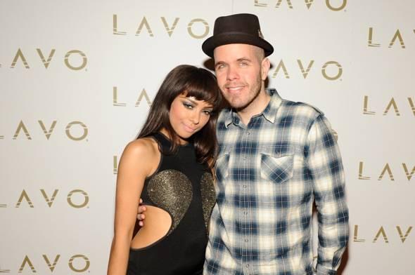 Kat Graham and Perez Hilton at LAVO red carpet