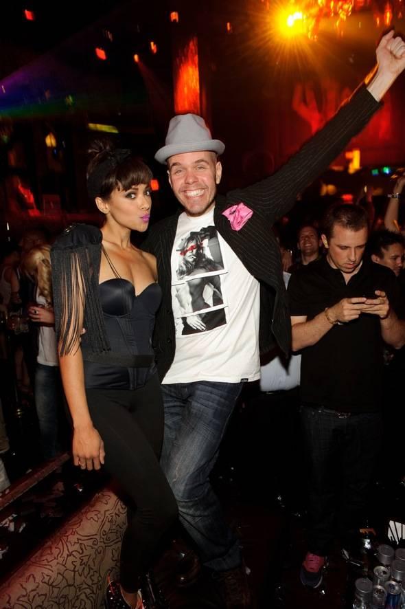 Kat Graham and Perez Hilton party at TAO LV