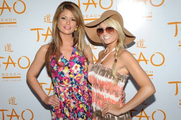 Laura Croft and Angel Porrino at TAO Beach