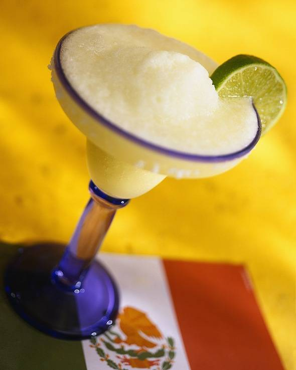 Mexican flag and a margarita