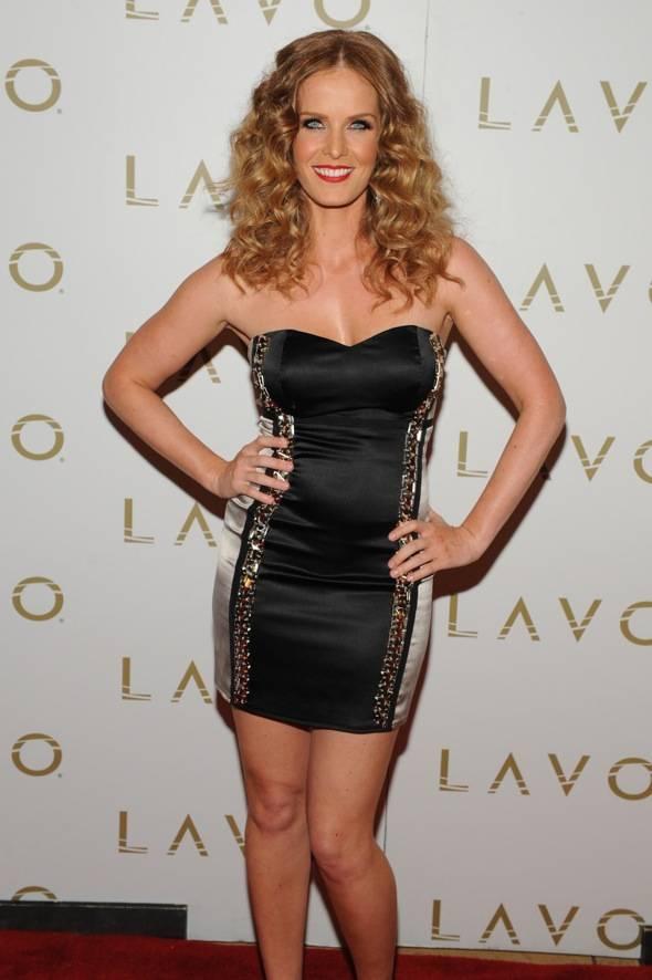 Rebecca Mader Celebrates Her Birthday at LAVO LV