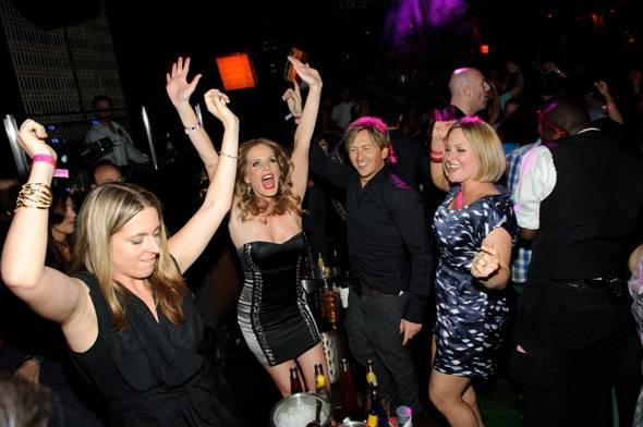 Rebecca Mader dances at LAVO LV