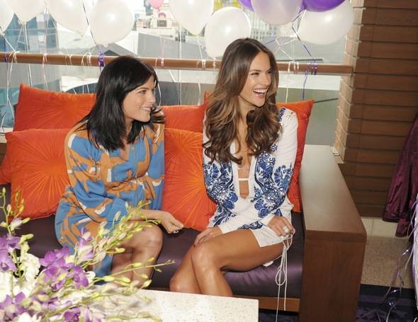 Selma Blair and Alessandra Ambrosio attend Marquee Nightclub and Dayclub Grand Opening on April 9, 2011 in Las Vegas, Nevada.