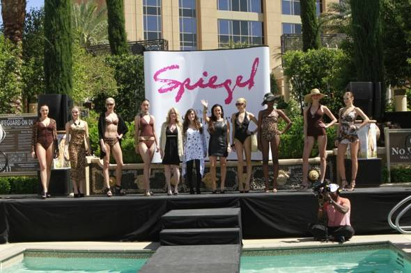 Spiegel Fashion Show at Azure Luxury Pool with Kim and Kyle Richards