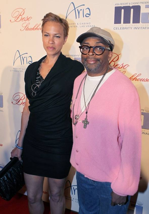 Spike Lee and Tayna Lewis Lee at BESO for MJCI, Las Vegas