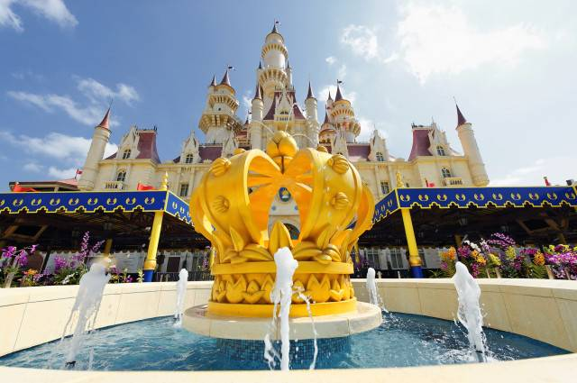 1. Universal Studios Singapore - Far Far Away castle