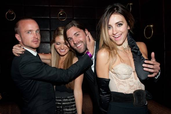 Aaron Paul with friends at LAVO