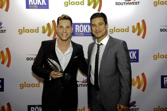Christian Chaves and Mario Lopez at GLAAD Media Awards