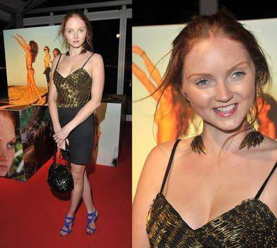 JRJ_Lily Cole wearing the Angel Wing Choker by Jessica Robinson_Pirelli Calendar Party London