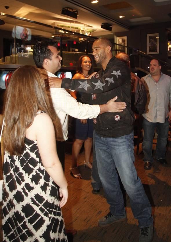 Jorge Santiago greeting fans
