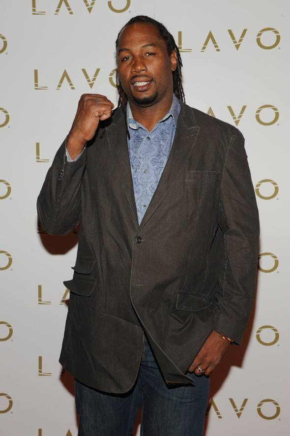 Lennox Lewis LAVO red carpet