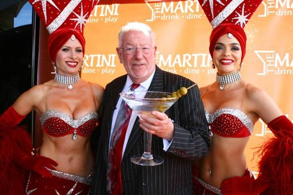 Mayor Oscar Goodman and Las Vegas Showgirls at the last Martinis with the Mayor at The Martini