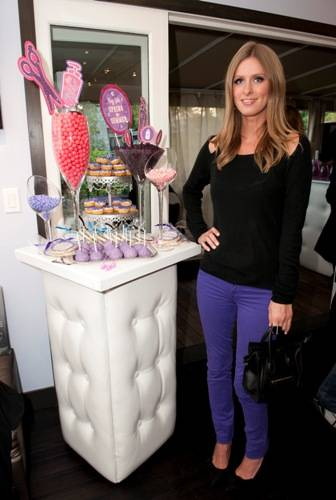 Nicky Hilton with cookies
