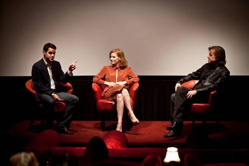 Panelists_Dave_Karger_(LAWeekly),_Jessica_Chastain_(The_Tree_of_Life)_and_Bill_Pohlad]