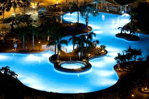St. Kitts Marriott Pool At Night