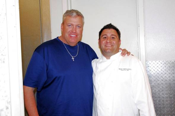 Rex Ryan, Chef Geno Bernardo - credit 9 Group