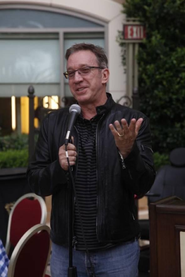 Tim Addressing Crowd