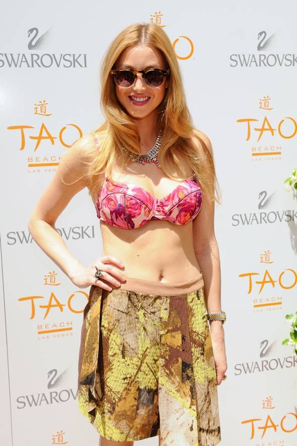 Whitney Port TAO Beach red carpet