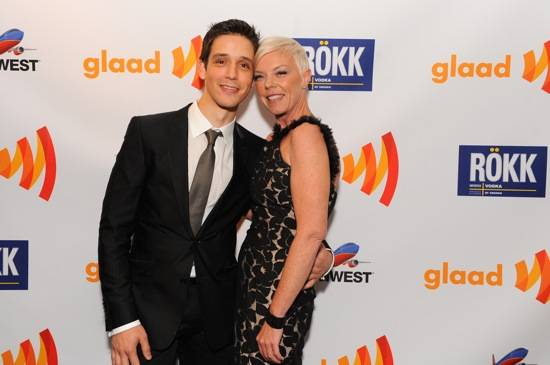 Yigit Pura and Tabatha Coffey at GLAAD Media Awards
