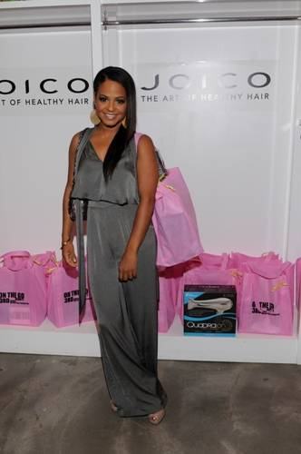 Christina Milian at the On the Go Beauty by Joico event.