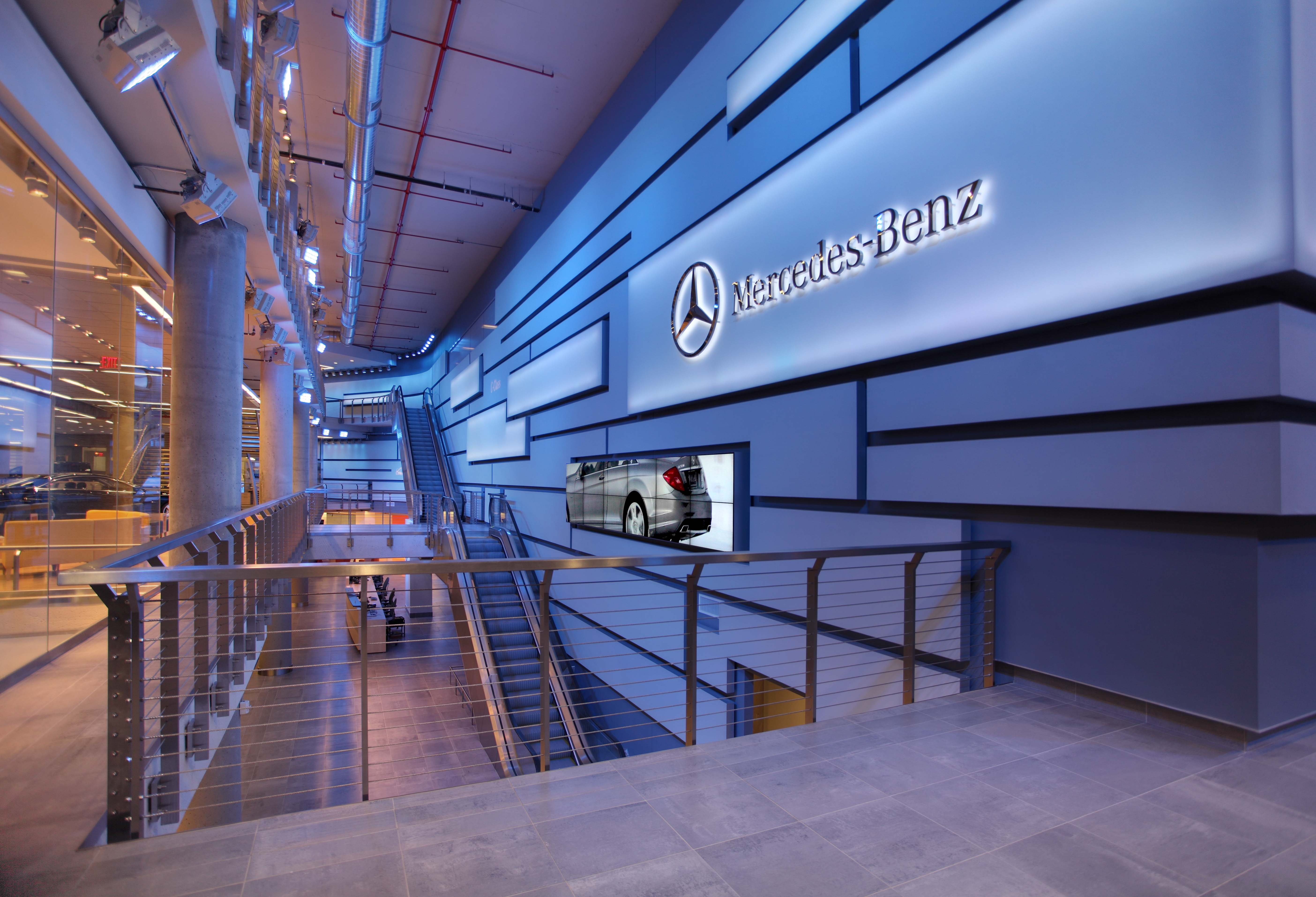 The gala opening of the new mercedes benz manhattan for Mercedes benz dealer ship
