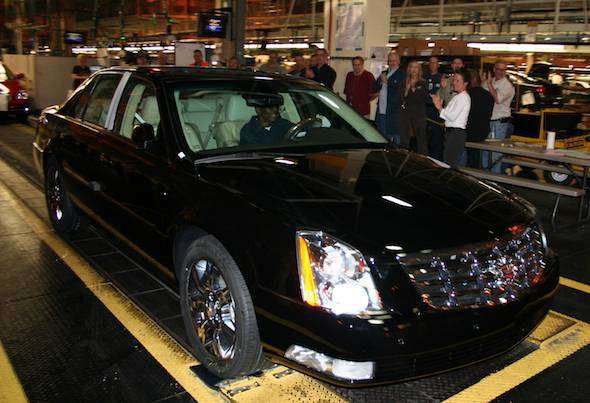 The last Cadillac DTS was made this week of May 23, 2011, at GM's Detroit-Hamtramck Assembly Plant. Nicola Bulgari, vice chairman of the Bulgari luxury goods firm, bought the final DTS to add to his extensive automobile collection.