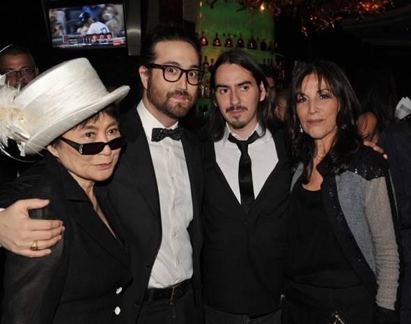 Yoko Ono, Sean Lennon, Dhani Harrison and Olivia Harrison.