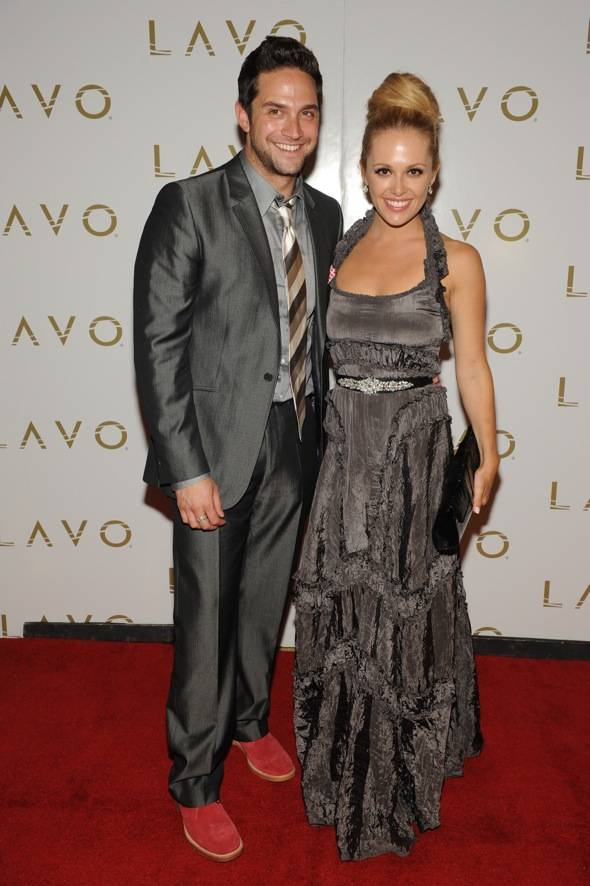 Brandon Barash and Natalie Hall at LAVO