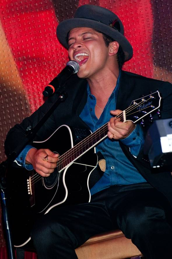 Bruno Mars performs at TAO