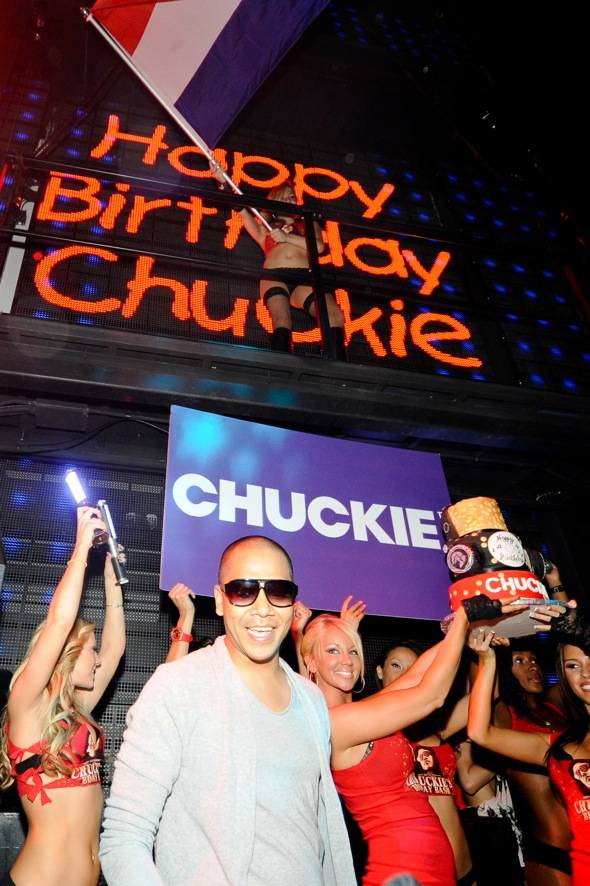 DJ Chuckie celebrates his birthday at Marquee