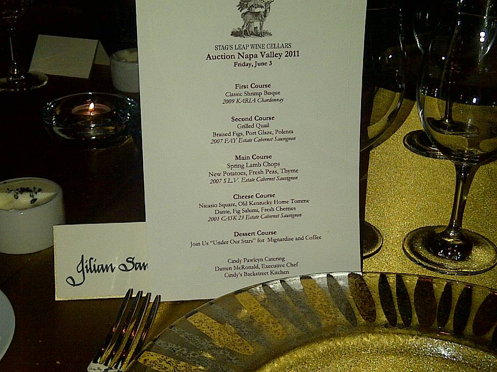 Five course, wine-paired dinner menu