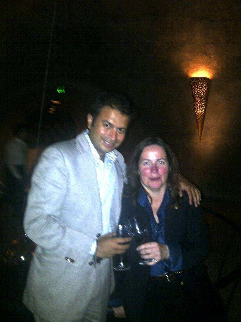 Haute Living CEO, Kamal Hotchandani and Stag's Leap winemaker, Nicki Pruss