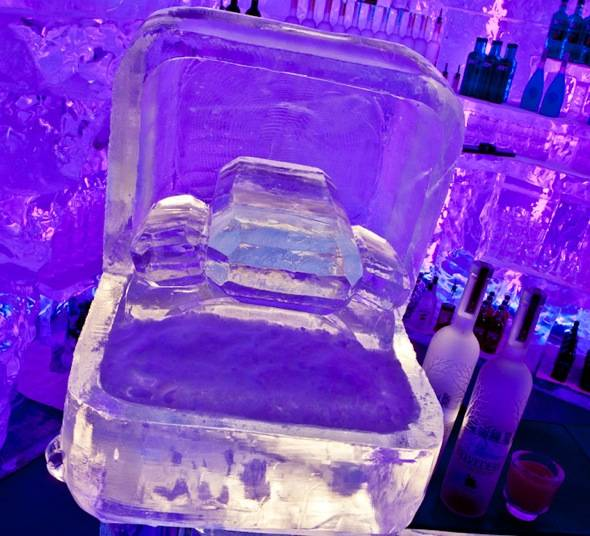 Kim Kardashian Engagement Ring Ice Sculpture