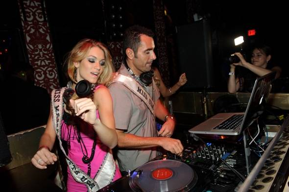 Miss Massachusetts Alida D'Angona with DJ Jason Lema at TAO