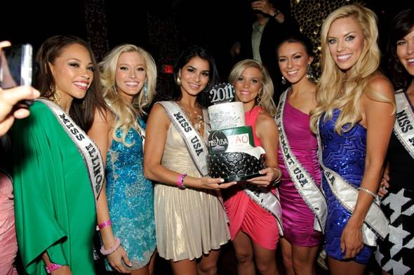 Miss USA 2010 Rima Fakih with Miss USA 2011 contestants at TAO