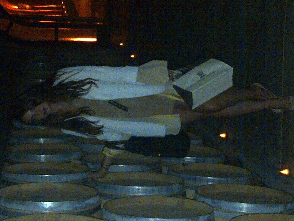 National Fashion Director, Jilian Sanz, in the Stag's Leap Wine Cellar