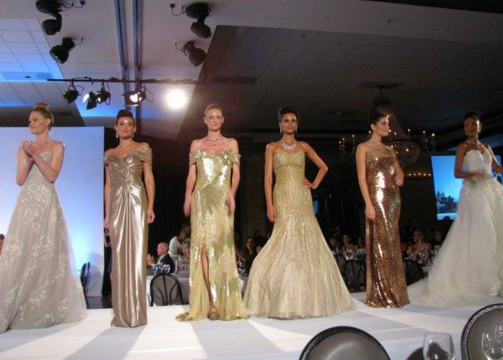 Rene Ruiz models in couture gowns, finale